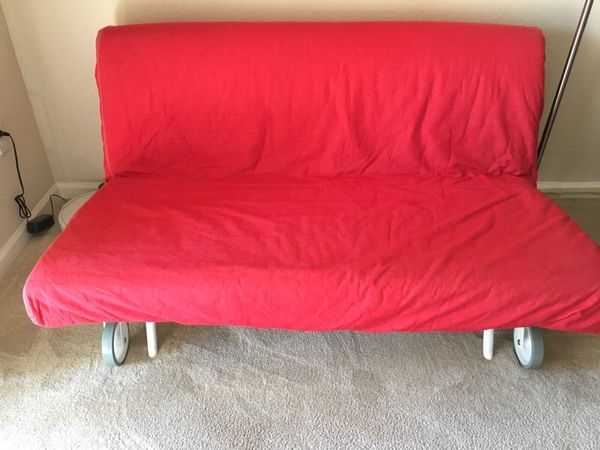 Ikea Ps Lovas Sofa Bed With Red Cover Furniture In Santa Clara clearly inside Red Sofa Beds IKEA (Image 11 of 20)