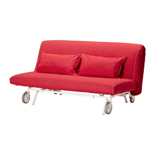 Ikea Ps Lvs Sofa Bed Ikea The Casters Make The Sofa Easy To Move good within Red Sofa Beds IKEA (Image 12 of 20)