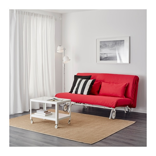 Ikea Ps Lvs Two Seat Sofa Bed Vansta Red Ikea most certainly for Red Sofa Beds IKEA (Image 14 of 20)