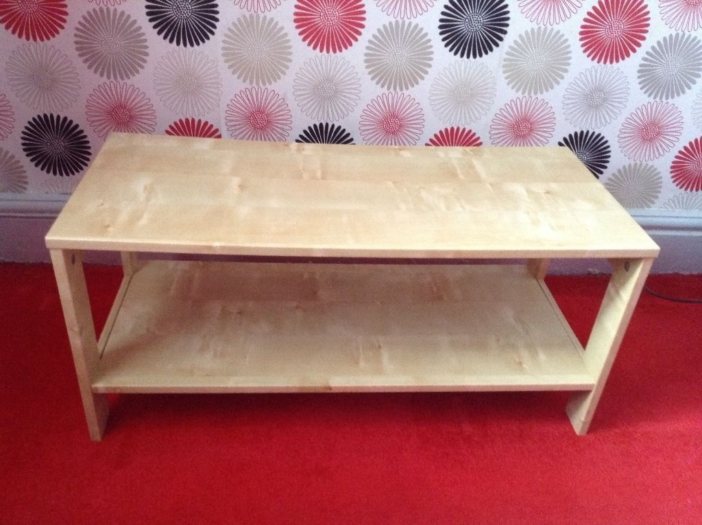 Ikea Small Birch Coffee Table Unit Storage 80x35cm In Salford nicely pertaining to Birch Coffee Tables (Image 13 of 20)