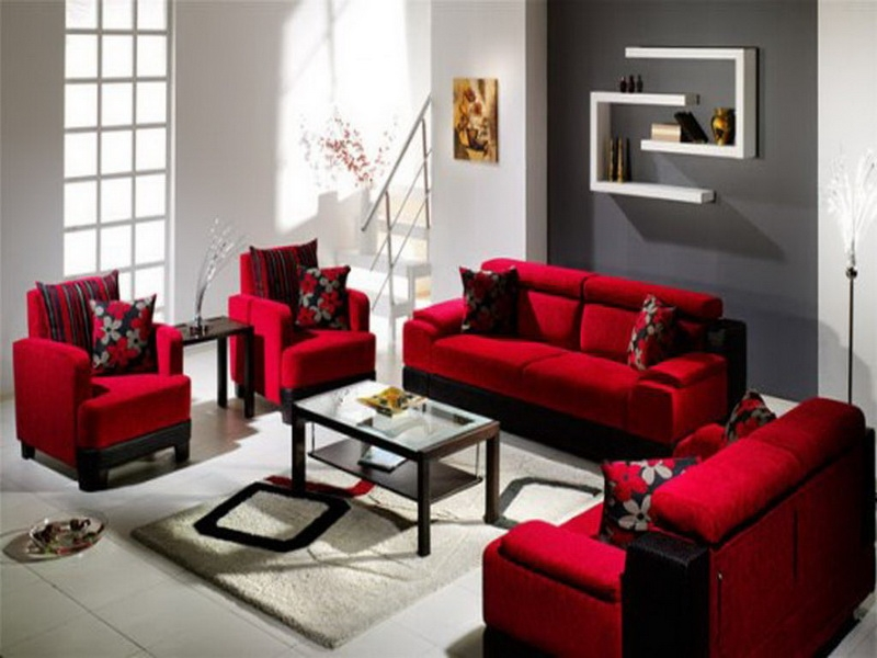 Image Result For Room Colors Red Black Beige And Green Studio good pertaining to Red Sofas And Chairs (Image 13 of 20)