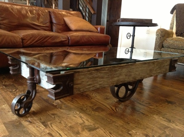 Inspirational Rustic Coffee Table With Wheels For Living Room most certainly regarding Rustic Coffee Table With Wheels (Image 13 of 20)