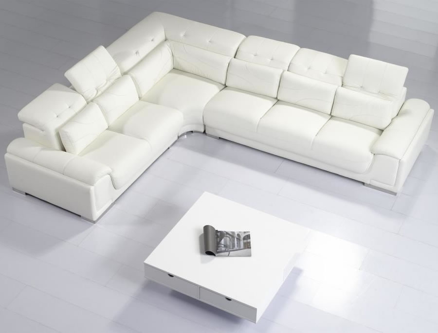 Inspirations Contemporary White Leather Sofa With Home Sofas good pertaining to Modern Sofas Sectionals (Image 8 of 20)
