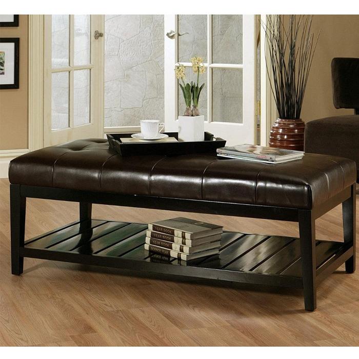 inspiring leather coffee table ottoman coffee table leather coffee good regarding brown leather ottoman coffee tables