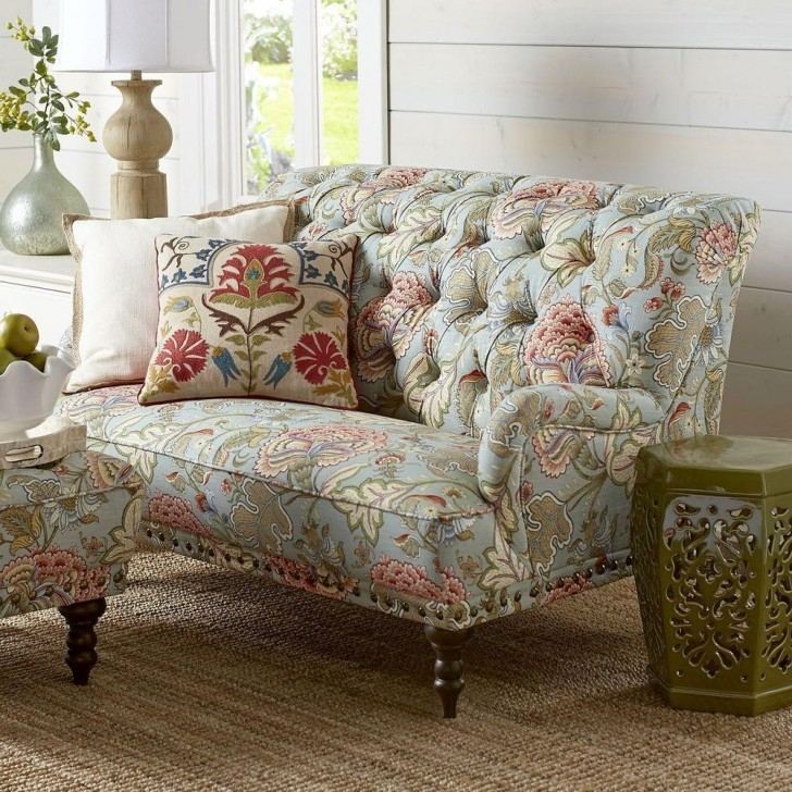 Interesting Printed Yellow Floral Sofas Design Fitted In Sofa With properly with Floral Sofas and Chairs (Image 17 of 20)