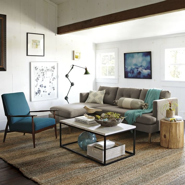 Jackson 2 Piece Reversible Sectional West Elm clearly pertaining to Coffee Table For Sectional Sofa With Chaise (Image 15 of 20)