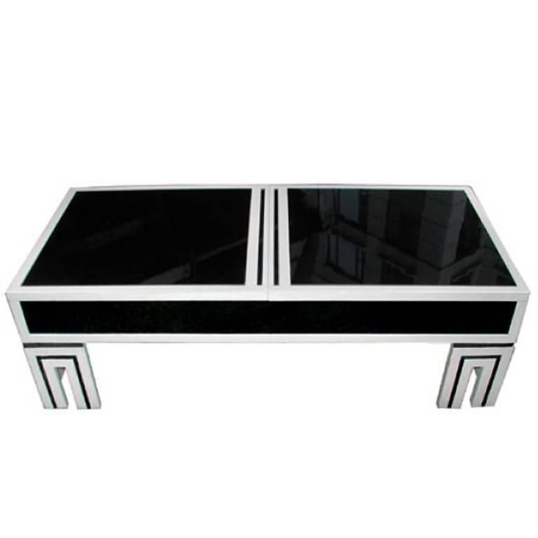 James Mont Black Glass Coffee Table For Sale At 1stdibs certainly throughout Unique Black Glass Coffee Table (Image 9 of 30)