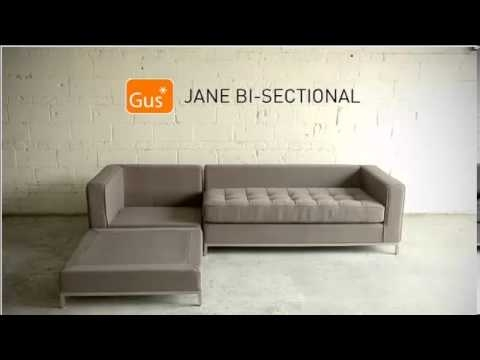 Jane Bi Sectional Gus Youtube definitely in Bisectional Sofa (Image 16 of 20)