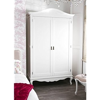 Juliette Shab Chic Champagne Double Wardrobe Stunning Large good intended for Large Double Rail Wardrobes (Image 28 of 30)