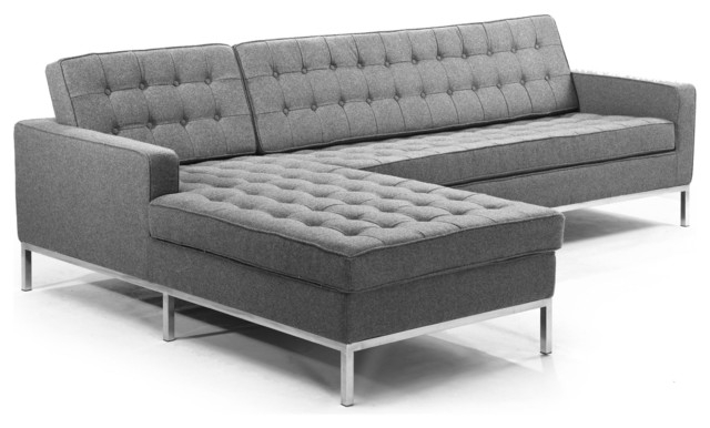 Kardiel Midcentury Modern Florence Left Sectional Modern very well with Florence Sofas (Image 14 of 20)