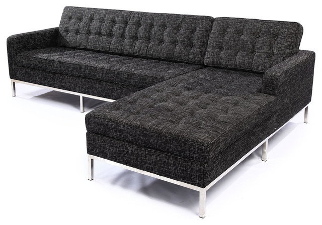 Kardiel Midcentury Modern Florence Right Sectional Modern perfectly inside Florence Sofas (Image 15 of 20)