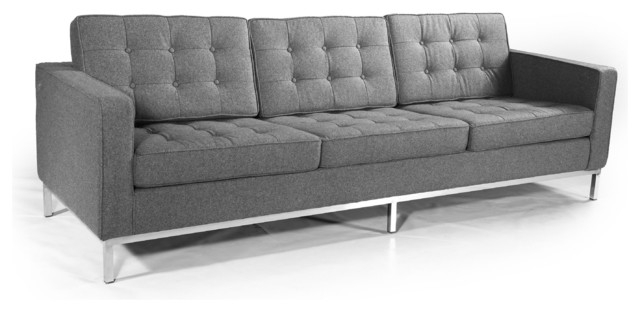 Kardiel Midcentury Modern Florence Sofa 3 Seat Contemporary most certainly with regard to Florence Sofas (Image 17 of 20)
