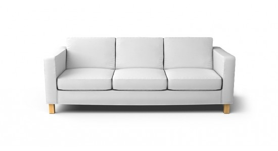 Karlanda 3 Seater Sofa Cover Beautiful Custom Slipcovers good with regard to Three Seater Sofas (Image 8 of 20)