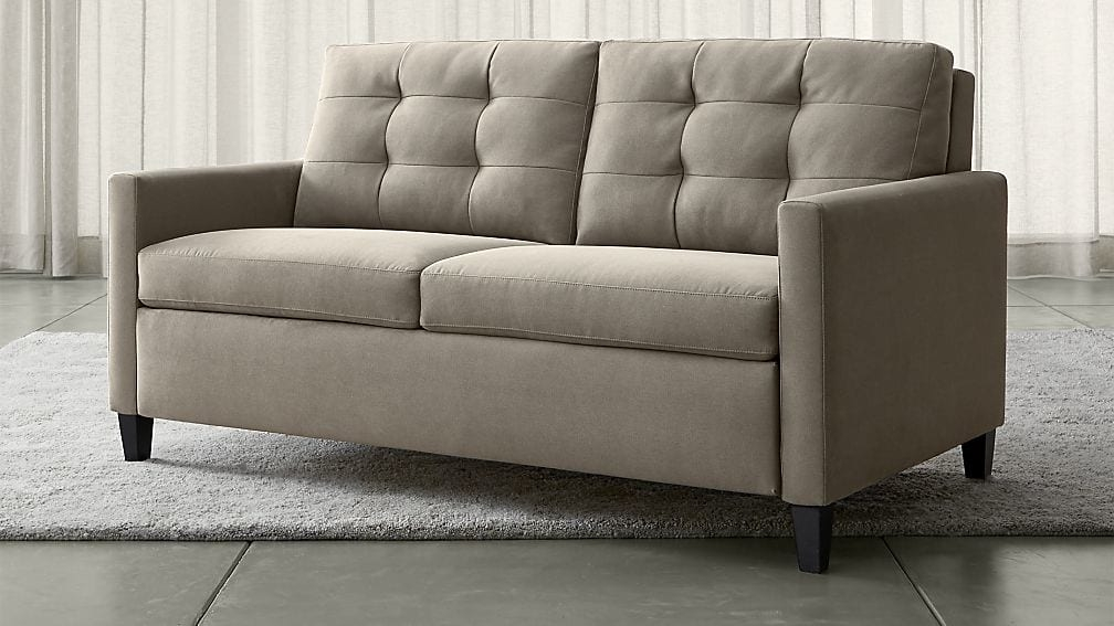 Karnes Grey Queen Sleeper Sofa Crate And Barrel effectively for Sofa Bed Sleepers (Image 15 of 20)