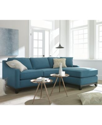 Keegan Fabric 2 Piece Sectional Sofa Furniture Macys Effectively Inside Small 2 Piece Sectional Sofas (View 11 of 20)