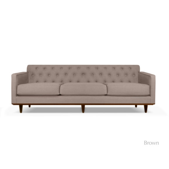 Kent Tufted Linen Sofa effectively with regard to Tufted Linen Sofas (Image 10 of 20)