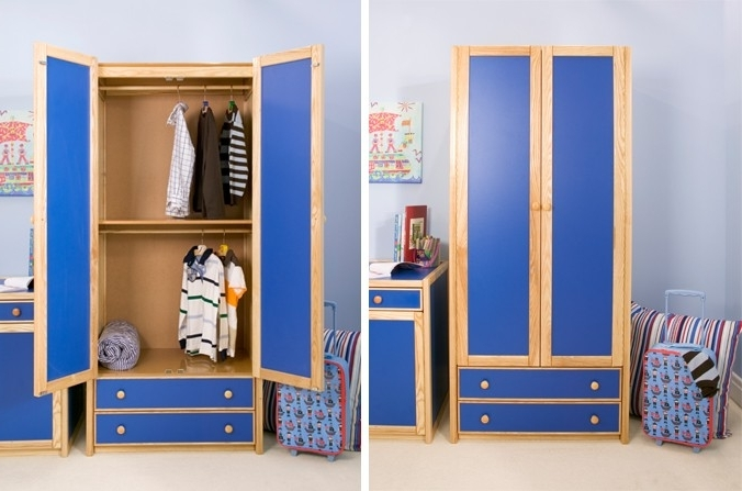 Featured Photo of Double Rail Childrens Wardrobes