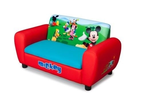 Kids Furniture Sofa Chair Disney Mickey Mouse Toddler Children properly pertaining to Toddler Sofa Chairs (Image 15 of 20)