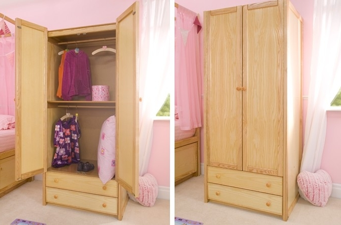 Kids Wardrobes And Cupboards Cbc clearly with Double Rail Childrens Wardrobes (Image 2 of 30)
