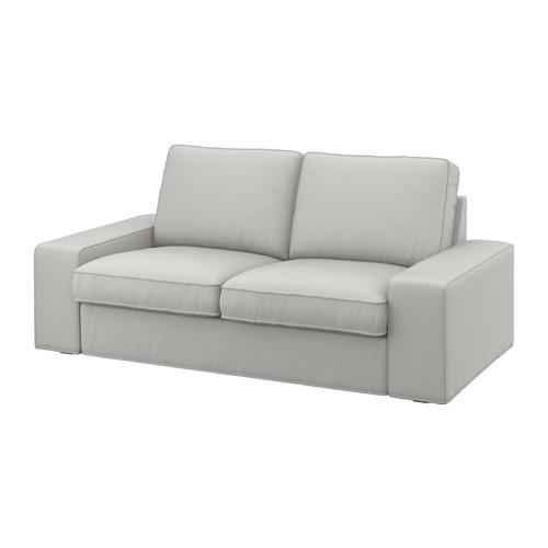 Kivik Two Seat Sofa Ramna Light Grey Ikea effectively regarding IKEA Two Seater Sofas (Image 11 of 20)