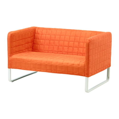 Knopparp 2 Seat Sofa Orange Ikea very well intended for Orange IKEA Sofas (Image 13 of 20)