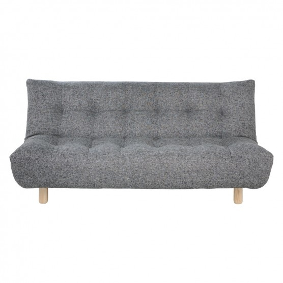 Kota Black And White Tweed Fabric 2 Seater Sofa Bed Buy Now At perfectly throughout Tweed Fabric Sofas (Image 14 of 20)