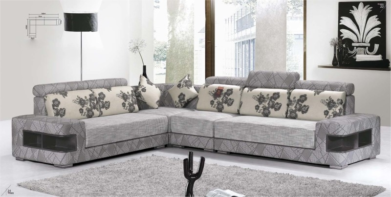 L Shape Modern Fabric Sofa Corner Modern L Shaped Sofa Design Is Effectively Regarding L Shaped Fabric Sofas (View 5 of 20)