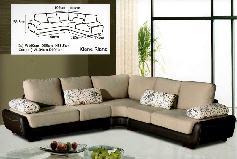 L Shaped Couch Tufted Scroll Arm 6seat Lshaped Sectional Hot certainly pertaining to L Shaped Fabric Sofas (Image 11 of 20)