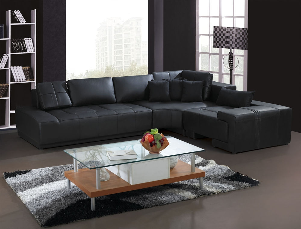 L Shaped Couch Tufted Scroll Arm 6seat Lshaped Sectional Hot nicely with regard to Leather L Shaped Sectional Sofas (Image 6 of 20)
