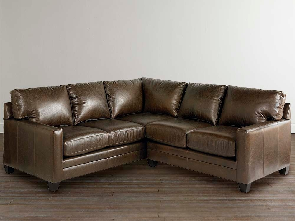 20 inspirations of leather l shaped sectional sofas. Black Bedroom Furniture Sets. Home Design Ideas