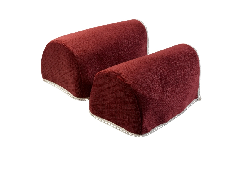 Lace Trim Chenille Round Arm Caps Standard Xl Mini Chair effectively throughout Sofa Arm Caps (Image 10 of 20)
