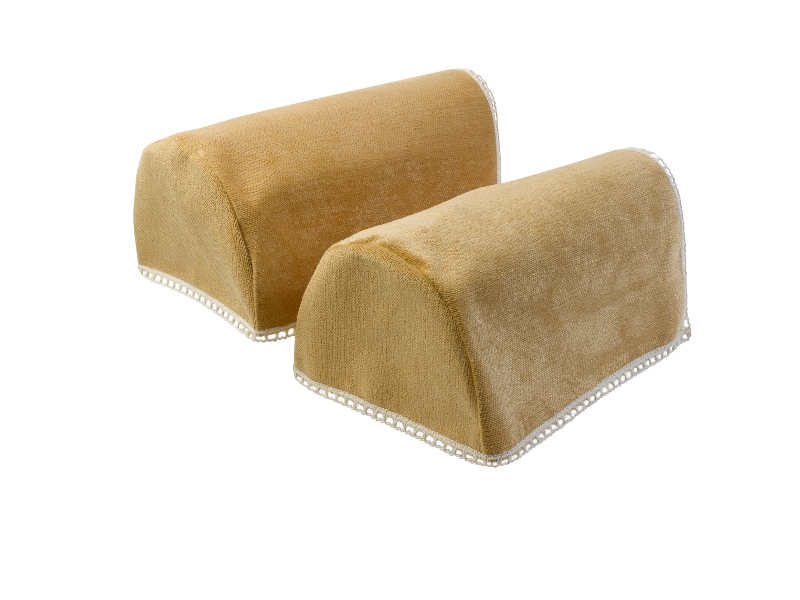 Lace Trim Chenille Round Arm Caps Standard Xl Mini Chair well regarding Sofa Arm Caps (Image 12 of 20)