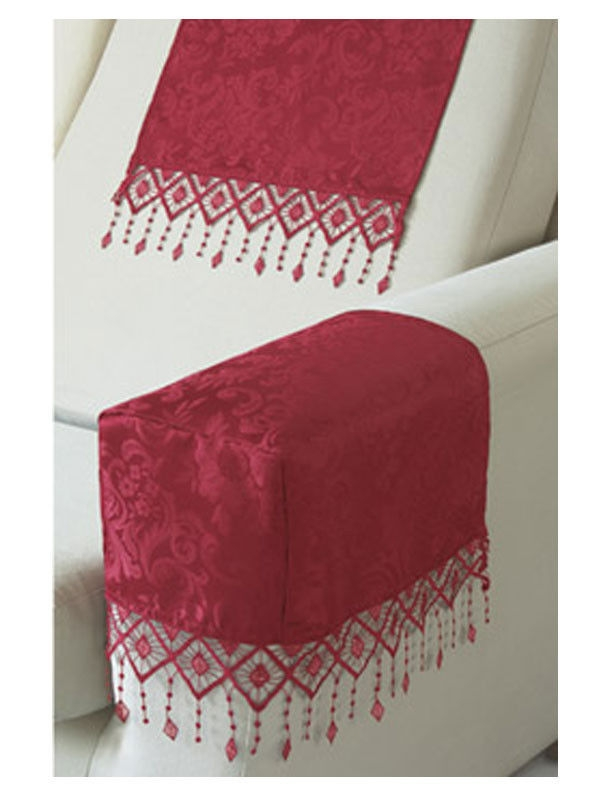 Lana Damask Antimacassars Arm Caps Chair Backs Or Fire Retardant certainly regarding Sofa Arm Caps (Image 13 of 20)