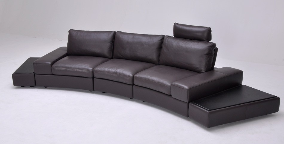 Langston Leather Sofa In Italian Brentwood Tan The Leather perfectly within Full Grain Leather Sofas (Image 14 of 20)