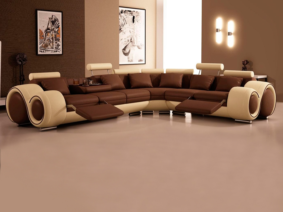 Large Modern U Shape Reclining Sectional Sofa S3net Sectional definitely throughout Very Large Sofas (Image 12 of 20)