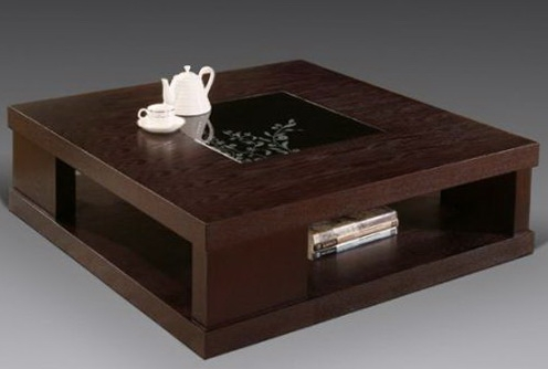 Featured Photo Of Square Dark Wood Coffee Table