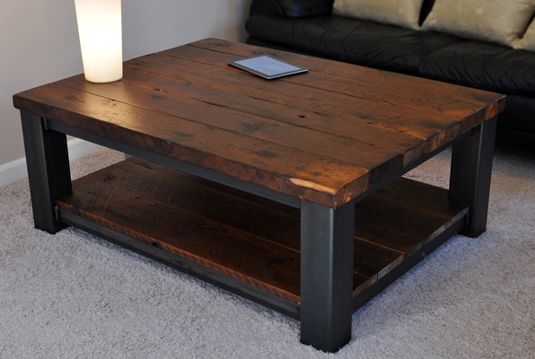 Large Wood Coffee Table clearly for Square Dark Wood Coffee Table (Image 17 of 20)
