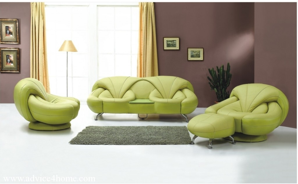 Latest Green Sofa Design And Dark Purple Wall In Living Room most certainly regarding Green Sofa Chairs (Image 17 of 20)