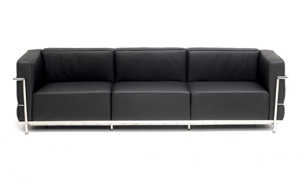 Le Grand Confort 3 Seater Sofa Le Corbusier Designer Sofas very well throughout Three Seater Sofas (Image 9 of 20)