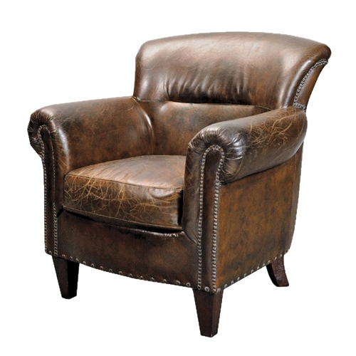 Leather Arm Chair good regarding Vintage Leather Armchairs (Image 11 of 20)