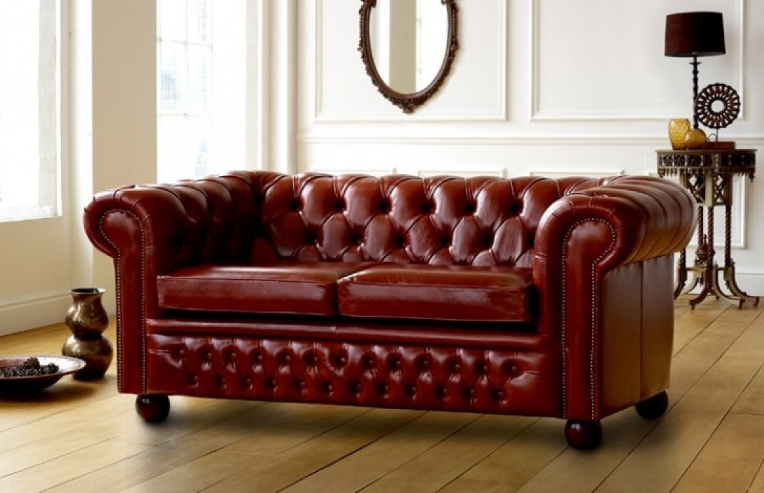 Leather Chesterfield Sofas Made From Real Top Grain 50 Colours clearly intended for Chesterfield Sofas (Image 17 of 20)