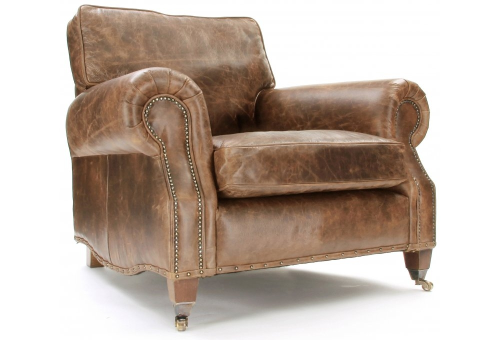 Leather Club Chairs Leather Wingback Chairs Old Boot Sofas nicely throughout Vintage Leather Armchairs (Image 13 of 20)