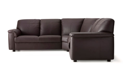 Leather Coated Fabric Corner Sofas Ikea properly with regard to Small Brown Leather Corner Sofas (Image 10 of 20)