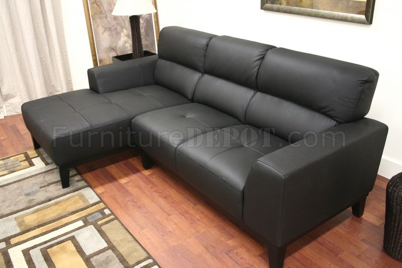 Leather Contemporary L Shaped Sofa Sectional Whigh Back good pertaining to Leather L Shaped Sectional Sofas (Image 12 of 20)