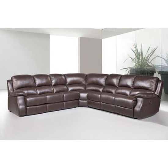 Leather Corner Recliner Sofa Bed Sofa Menzilperde clearly for Leather Corner Sofa Bed (Image 11 of 20)