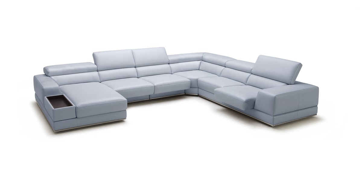 Leather Recliners Available In Different Configuration And Styles perfectly intended for Gray Leather Sectional Sofas (Image 10 of 20)