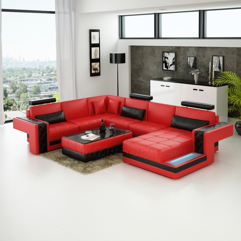 Leather Sectional Sleeper Sofa very well pertaining to Red Sectional Sleeper Sofas (Image 5 of 20)