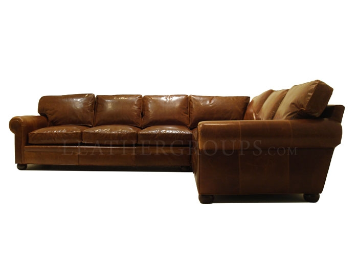 Leather Sectional Sofa 21 Fascinating Sectional Leather Sofa most certainly in Vintage Leather Sectional Sofas (Image 16 of 20)