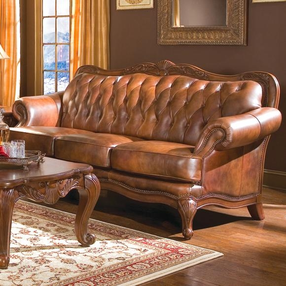 Leather Sofas Sasha clearly with regard to Victorian Leather Sofas (Image 7 of 20)