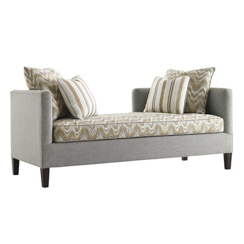 Lexington Tower Place Contemporary Backless Sebastian Settee nicely in Backless Chaise Sofa (Image 16 of 20)